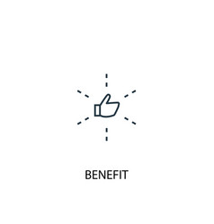 Benefit concept line icon simple element vector