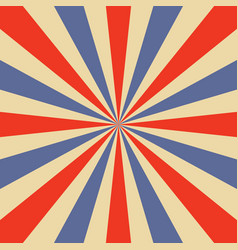 blue and orange sunburst pattern vector image