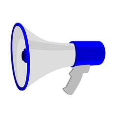 Blue megaphone vector image