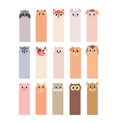 Bookmarks for children s books with animals vector