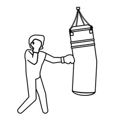 boxing figther trainning vector image