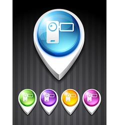 camera recorder icon vector image