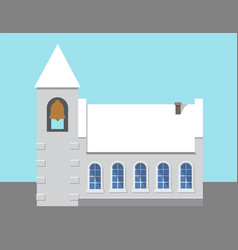 Church with big bell poster vector