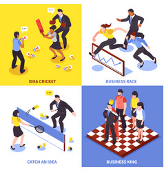 Competition business icon set vector