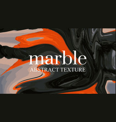 contrast liquid orange black background marble vector image