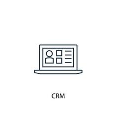 Crm concept line icon simple element vector