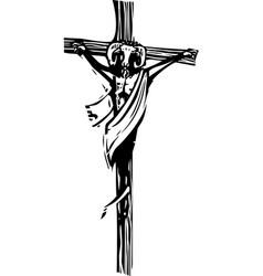 crucifix goat vector image