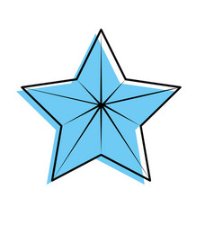 Cute modern and big star design vector