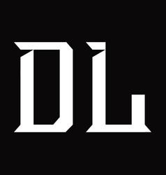 Dl logo monogram with slice shape design template vector