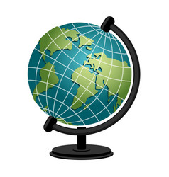 Earth school geography globe model of planet vector
