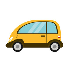 Eco car transport image vector