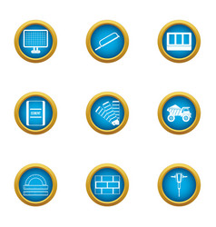 Elaboration icons set flat style vector