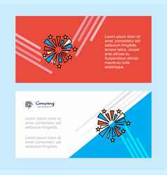 fireworks abstract corporate business banner vector image
