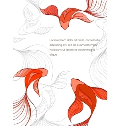 Fish card vector