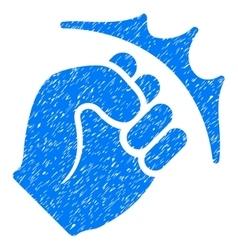 Fist Strike Grainy Texture Icon vector