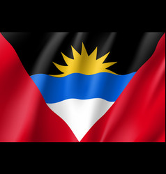 flag antigua barbuda realistic icon vector image
