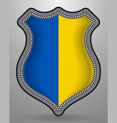 Flag of ukraine badge and icon vector