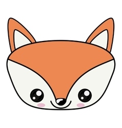 Fox kawaii cartoon design vector