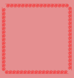 frame red 4 1101 vector image