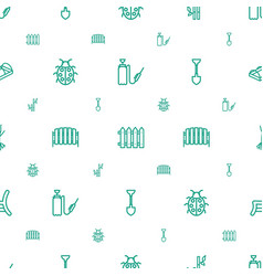 Garden icons pattern seamless white background vector