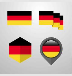 germany flag design set vector image