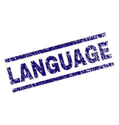 Grunge textured language stamp seal vector