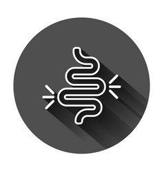 Gut constipation icon in flat style colitis on vector