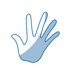 hand human with five finger show palm vector image