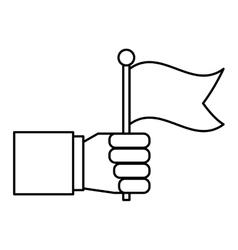 hand human with flag vector image