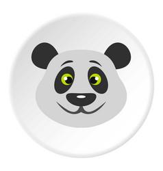 head of panda bear icon circle vector image