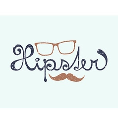 Hipster lettering vector