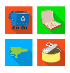 Isolated object refuse and junk icon vector