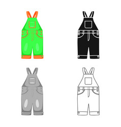 Isolated object romper and toddler symbol vector