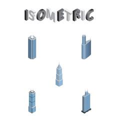 Isometric skyscraper set of exterior business vector