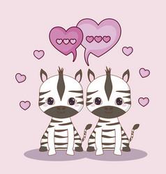 kawaii animals design vector image