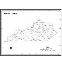 kentucky state outline administrative map vector image