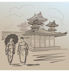Kioto vector image