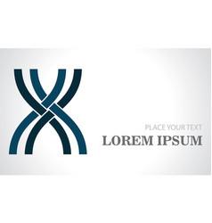 line shape letter x logo vector image