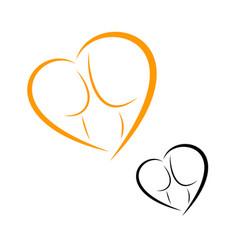 Logos of childbirth and motherhood vector