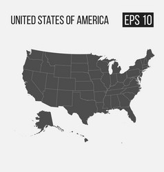 Map of usa with regions eps 10 vector