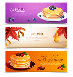 maple syrup banners set vector image