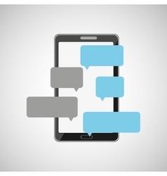 Mobile cellphone dialogue talk icon vector