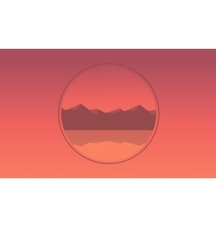 Mountain icon landscape of silhouette vector