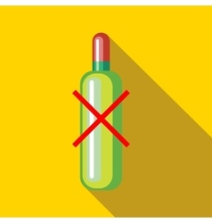 No alcohol icon in flat style vector image