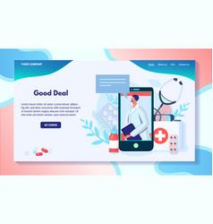 pharmacy website design medical consultation vector image