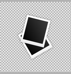 photo frame realistic template photo design vector image