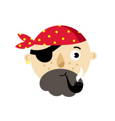 Pirate head isolated icon vector
