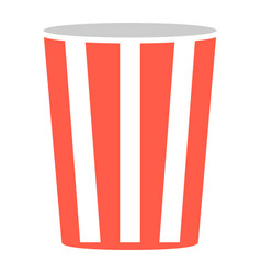pop corn popcorn box isolated vector image
