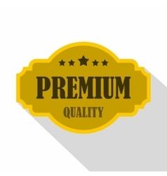 Premium quality label icon flat style vector
