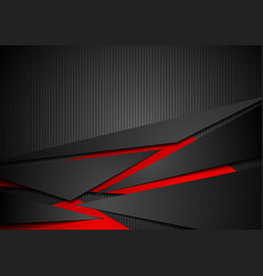 Red and black tech corporate abstract background vector